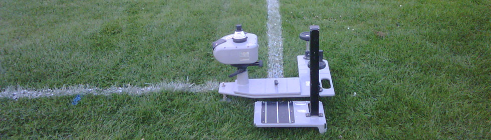 Sports field laser line marking